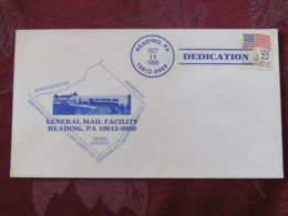 USA 1986 Dedication Cover Reading - General Mail Facility - Capitol - Flag - Etats-Unis