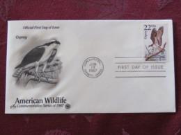 USA 1987 FDC Cover USPS CAPEX Toronto Canada - American Wildlife - Osprey Bird - Etats-Unis