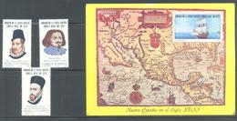 ROYAL PROCLAMATION OF MAIL SERVICE IN NEW SPAIN 400 AÑOS DEL CORREO EN MEXICO 1192 C618-C620  1979 MNH - Mexique