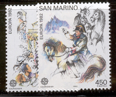 SAN MARINO 1982 Europa Scott Cat. No(s). 1019-1020 MNH - Europa-CEPT
