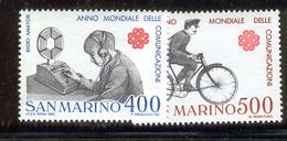SAN MARINO 1983 World Communications Year Scott Cat. No(s). 1051-1052 MNH - San Marino