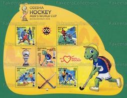 INDIA 2018 Inde Indien - ODISHA HOCKEY Men's World Cup Bhubaneshwar 5v Odd Shape M/s MNH ** - Hockey Players, Mascot -as - Inde