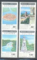 MEXICO TURISTICO SC 1190 1191  C618-C620  1979 MNH MORELOS NAYARIT CHIAPAS Y COLIMA MNH - Mexique