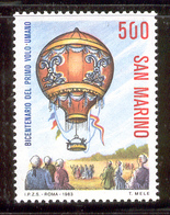 SAN MARINO 1983 Manned Flight Bicentenary-Montgolfiere Balloon Scott Cat. No(s). 1053 MNH - San Marino
