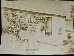 PHOTO ORIGINALE _ VINTAGE SNAPSHOT : JULIE à MONTIGNY _ CIRCA 1890 - Photographs