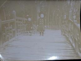 PHOTO ORIGINALE _ VINTAGE SNAPSHOT : ENFANTS _ CHAPEAUX à LYON _ LE PARC_ CIRCA 1890 - Photographs