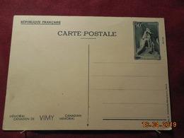 Carte Entier Postal ( Mémorial Canadien De Vimy) - Entiers Postaux