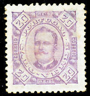 !■■■■■ds■■ Cape Verde 1893 AF#28(*) Carlos Neto 20 Réis 11,5 (x8250) - Cap Vert