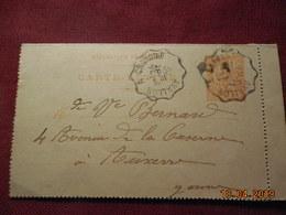 Carte Lettre De 1902 à Destination D'Auxerre - Postal Stamped Stationery