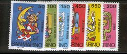 SAN MARINO 1984 School And Philately Scott Cat. No(s). 1072-1077 MNH - San Marino