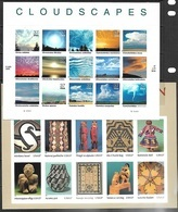 US  2004  Sc#3873  37c Indian Art Sheet & #3878 37c Cloudscapes Sheet   MNH   Face $9.25 - United States