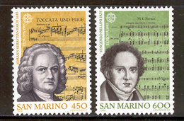 SAN MARINO 1985 Europa Composers-Bach And Bellini Scott Cat. No(s). 1081-1082 MNH - Europa-CEPT
