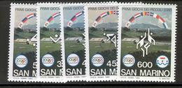 SAN MARINO 1985 Olympiad Of The Small States Scott Cat. No(s). 1083-1087 MNH - San Marino