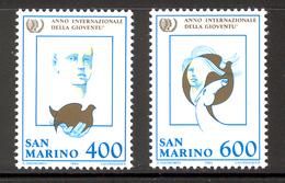 SAN MARINO 1985 International Youth Year Scott Cat. No(s). 1089-1090 MNH - San Marino