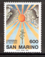 SAN MARINO 1985 Helsinki Conference Scott Cat. No(s). 1091 MNH - San Marino
