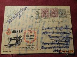 Entier Postal De 1953 Avec Publicité ANKER - Cartes Illustrées