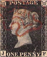 Timbres > Europe > Grande-Bretagne > 1840-1901 (Victoria) > 1p Noir (Black Penny) > Oblitéré - Usados