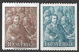 Sweden  1961  Sc#594-5 Pilo  MH  2016 Scott Value $3.85 - Sweden