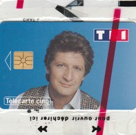 TELECARTE CINQ...PATRICK SEBASTIEN...NEUVE SOUS BLISTER - France