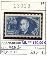 Frankreich - France - Francia -  Michel 425b - * Mh Charn. -Mi. ** 170,00 € - Frankreich