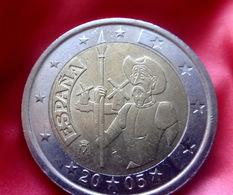 2005 Spain 2 Euro 2€ Don QUIXOTE OF LA MANCHA Coin  CIRCULATED  KM:1063 - España