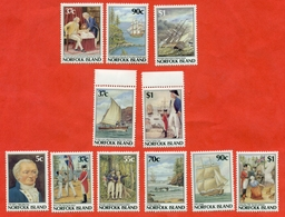 Norfolk Island 1987-88.The 200th Anniversary Of The Colonization Of Norfolk Island. Unused Stamps. - History