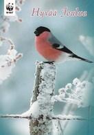 Postal Stationery - Bird - Bullfinch - WWF Panda Logo - Suomi Finland - Postage Paid - Finlande