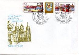 "DDR Schmuck-FDC Mi 2722/23 ""BM-Ausstellung Der Jugend, Schwerin"", ESSt BERLIN,6.7.1982 - [6] République Démocratique"