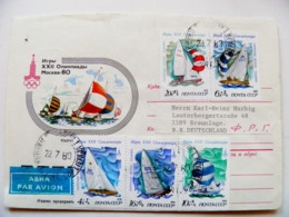 Cover Ussr Olympic Games Moscow 1980 Sailing Regatta Ships Tallinn Estonia - 1923-1991 UdSSR