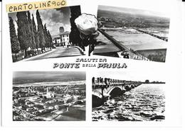 Veneto-treviso-ponte Della Priula Frazione Di Susegana Vedute Vedutine Animate Saluti Da Ponte Della Priula - Andere Städte