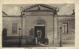 NIORT  Le Lycée De Garcons Porte D'Entrée RV  Cachet Hopital Temporaire Du Territ N°4 - Niort