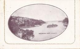 Australien: 1912: Letter Card, Ganzsache, Bild Mosman Bay-Sydney, Verschlossen - Australien