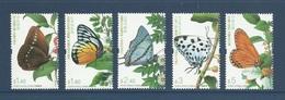 Hong Kong 2007 Yvert 1343/1347 ** Papillons Butterflies Farfalle Mariposas Schmetterlinge - Neufs