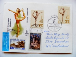 Cover Ussr Olympic Games Moscow 1980 Special Cancel Fdc Gymnastics - 1923-1991 URSS