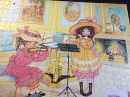 4 Puzzles Fernand Nathan Reconstitués Sur Plaque Cartonné Pour Support P.L.V. (500 Pièces- 50x35 Cm - 2 Perforations Cot - Puzzles