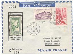 16643 - AEROPOSTALE / JEAN MERMOZ - 1927-1959 Brieven & Documenten