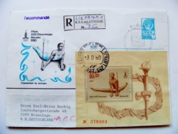 Cover Ussr Olympic Games Moscow 1980 Special Cancel Gymnastics Numbered M/s - Estate 1980: Mosca