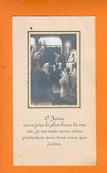 """O Jésus  En Ce Jour....  Image Religieuse Avec Au Verso """" NOTRE DAME De CHATOU  Juin 1942 """" - Images Religieuses"""