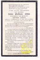 DP Jules Frederic Gillis ° Landegem Nevele 1878 † 1911 X Esther Odeyn - Images Religieuses