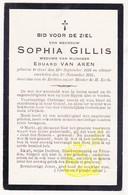 DP Sophia Gillis ° Gent 1833 † 1915 X Eduard Van Aken - Images Religieuses