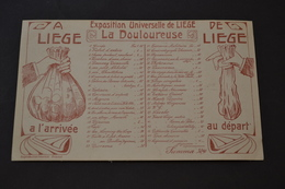 Carte Postale 1905 Exposition De Liège La Douloureuse Prix De L'expo Avant Et Après Visite - Belgique
