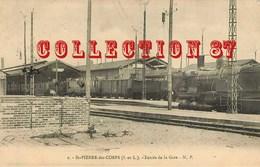 ACHAT DIRECT < GARE ☺♦♦ TRAIN à La GARE De SAINT PIERRE Des CORPS - BAHN  BAHNHOF - Stations - Met Treinen