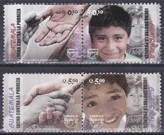 Guatemala 2006 Organisationen Postwesen UPAEP Kampf Gegen Armut Poverty Poorness Kinder Children Hände, Mi. 1440-3 ** - Guatemala