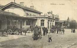 EPINAL  La Gare Diligence Fiacre Voiture RV - Epinal