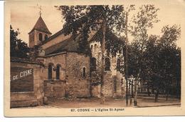 58 . Nièvre : Cosne :   L  ' église Saint Agnan . - Cosne Cours Sur Loire