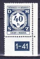 Boheme Et Moravie 1941 Mi D  2 (Yv TS 2), (MNH)** - Bohême & Moravie