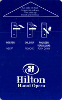 HILTON HANOI  - Vietnam - Hotel Room Key Card, Hotelkarte, Schlüsselkarte, Clé De L'Hôtel - Cartes D'hotel