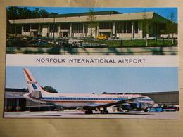 AEROPORT / AIRPORT / FLUGHAFEN    NORFOLK INTERNATIONAL  DC 8 UNITED - Aérodromes