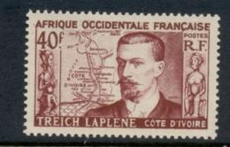 French West Africa 1952 Treich Laplene MLH - A.O.F. (1934-1959)