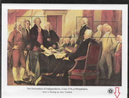 US 1976 Sheet American Revolution Issue Declaration Of Independence,Scott # 1687,VF MNH** (RN-8) - Us Independence